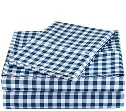 AmazonBasics Microfiber Fitted Sheet Set Super Soft And Comf