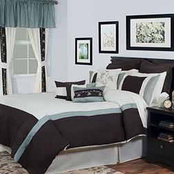 Lavish Home 24-Piece Annette Bed-in-a-Bag Bedroom Set, Queen