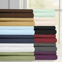 Attached Wrinkle-Free Waterbed Solid Sheet Set Fitted + Flat