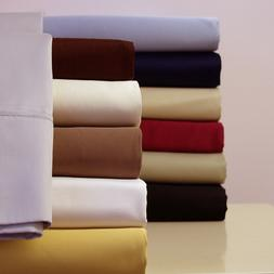 Attached Waterbed Sheets 100% Combed Cotton Sateen Solid Dee