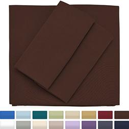 Premium Bamboo Bed Sheets - Queen Size, Chocolate Sheet Set