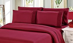 Bamboo Living Eco Friendly Egyptian Comfort Bedding 6 Piece