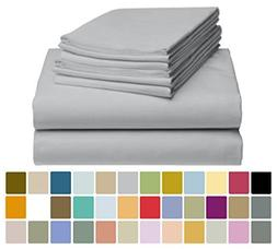 LuxClub 6 PC Bamboo Sheet Set w/ 18 inch Deep Pockets - Eco
