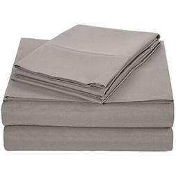 Basics Sheet & Pillowcase Sets Microfiber - Queen, Dark Grey