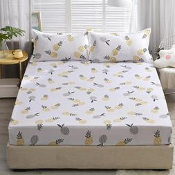 Bed Fitted <font><b>Sheet</b></font> with 2 Pillowcase Pinea