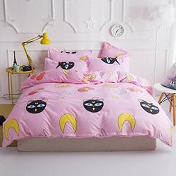 KFZ Bed SET 4pcs Bedding Set Cartoon Animal Duvet Cover No C