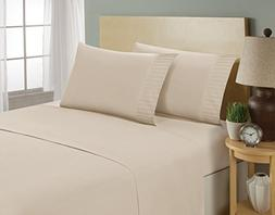 aJOY World Bed Sheet Set - Pleated 1800 Luxury Bedding Colle