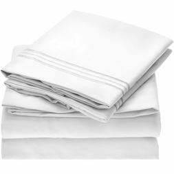 Mellanni Bed Sheet Set - Brushed Microfiber 1800 Bedding - 4