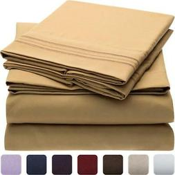 Mellanni 3pcs Bed Sheet Set - HIGHEST QUALITY Brushed Microf