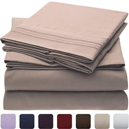 Mellanni 3pcs Bed Sheet Set Brushed Microfiber 1800 Bedding