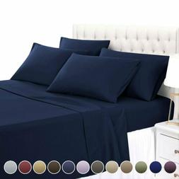 Bed Sheet Set Microfiber Easy-Clean Soft Brush Twin Full Que
