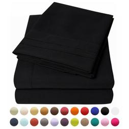 Bed Sheet Set - Microfiber Wrinkle Fade and Stain Resistant