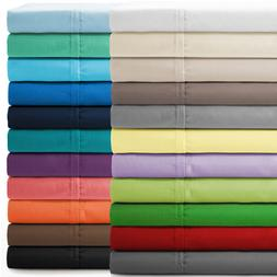 BED SHEET SET SOLID ALL COLORS & SIZES 800 THREAD COUNT EGYP