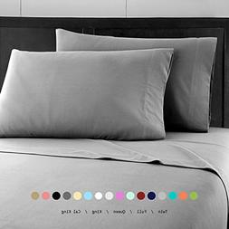 Prime Bedding Bed Sheets - 4 Piece Queen Sheets, Deep Pocket