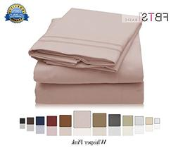 FBTS Basic Bed Sheets Queen Size Double Brushed Microfiber 1