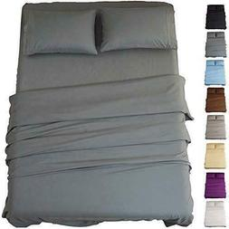 bed sheets queen size super soft microfiber