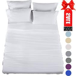 Queen Sheets Bed Sheets Set Microfiber Super Soft 1800 Threa