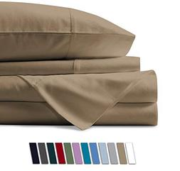 Mayfair Linen 600 Thread Count 100% Cotton Sheets - Taupe Lo