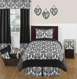 Black and White Isabella Childrens and Teen 3 Piece Full / Q