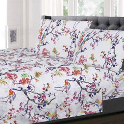 Botanical Pastel Floral Printed 4-Piece 1500 Supreme Collect