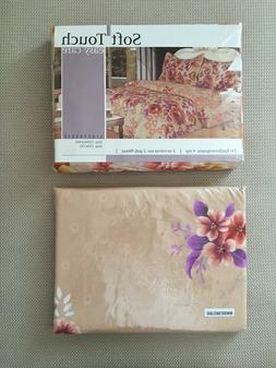 BRAND NEW SET 5PC QUEEN SIZE 100%COTTON -ROSES- DUVET COVER,