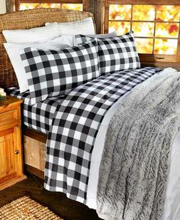 Buffalo Check Bed Queen Sheet Set with Pillowcases Country B