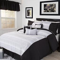 Lavish Home Caitlin 17 Piece Comforter Set - Queen