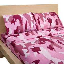 Clara Clark® Camouflage Collection Raspberry CAMO Rose Pink