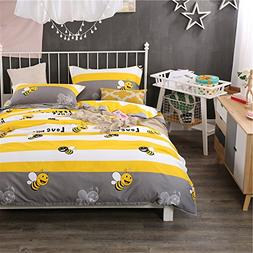 LELVA Cartoon Kids Bedding for Boys and Girls Duvet Cover Se