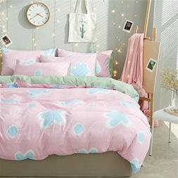 4pcs Cotton Bedding Autumn Winter Duvet Cover Without Comfor