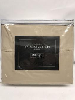 Italian Luxury Cream Queen 4 Piece Sheet Set