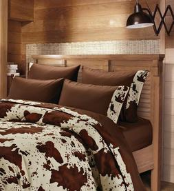 CREAM RODEO SHEET KING SIZE SET!! WESTERN BEDDING 6 PC LODGE