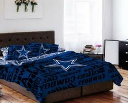 Dallas Cowboys Queen Comforter & Sheets, 5 Piece NFL Bedding