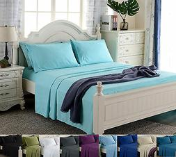 deep pocket 4 piece bed sheet set