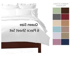 DEEP POCKET  PIECE QUEEN SIZE SHEET SET SUPER SOFT BED SHEET