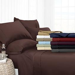Egyptian Luxury Hotel Collection 4-Piece Bed Sheet Set - D