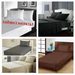 Egyptian Comfort 1900 Series Flat Bed Sheets Full,Queen King