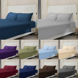 Egyptian Comfort  4pcs Bed Sheet Set Deep Pocket 1800 Count