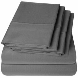 Egyptian Cotton Queen Size Bed Sheets Sheet Set Deep Pocket