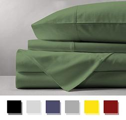 Mayfair Linen 100% EGYPTIAN COTTON Sheets, SAGE GREEN QUEEN