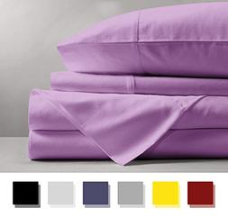 Mayfair Linen 100% EGYPTIAN COTTON Sheets, LILAC QUEEN Sheet