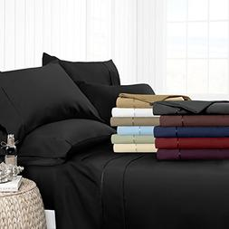 Egyptian Luxury Hotel Collection 4-Piece Bed Sheet Set - Dee