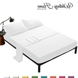 Egyptian Quality Stone Washed Microfiber Bed Sheets Queen 4