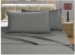 Elegant Bed Sheet Sets, 1500 Thread Count Egyptian Quality,M