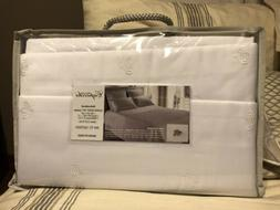 embroidered bee queen sheet set white 300
