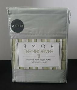 HOME ENVIRONMENT 100% RAYON FROM BAMBOO QUEEN SHEET SET SAGE