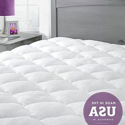 ExceptionalSheets Bamboo Mattress Pad with Fitted Skirt - Ex