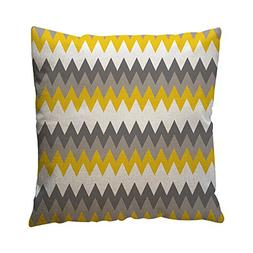 Fashion Bed Pillow Case,PASHY Yellow Geometric Pattern Throw
