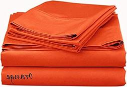 KM Linen Brand New Philly Bedding Solid Style Orange 800-Thr