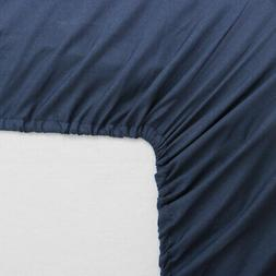 "Fitted Bottom Sheet 15"" Large Pocket Brushed Velvety Microfi"